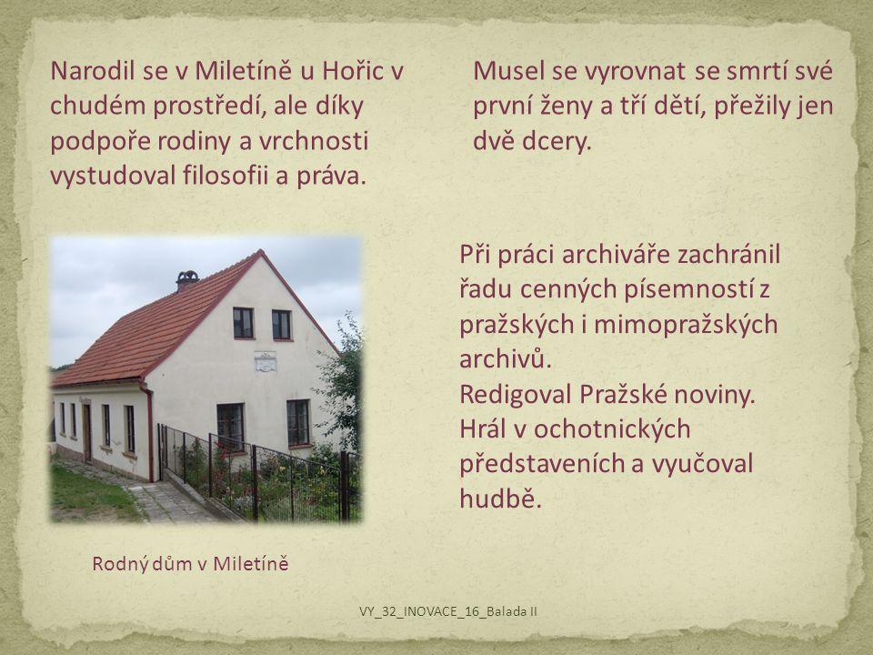 Redigoval Pražské noviny.