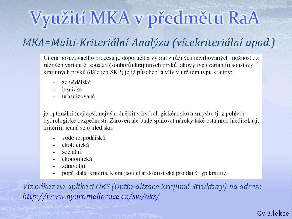 Využití MKA v předmětu RaA