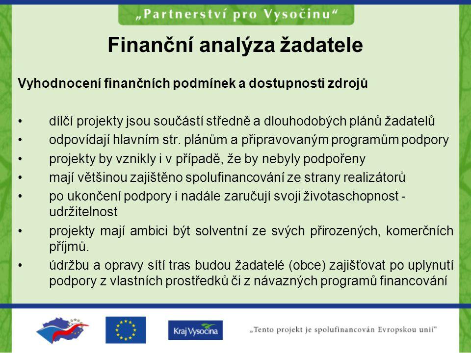 Finanční analýza žadatele