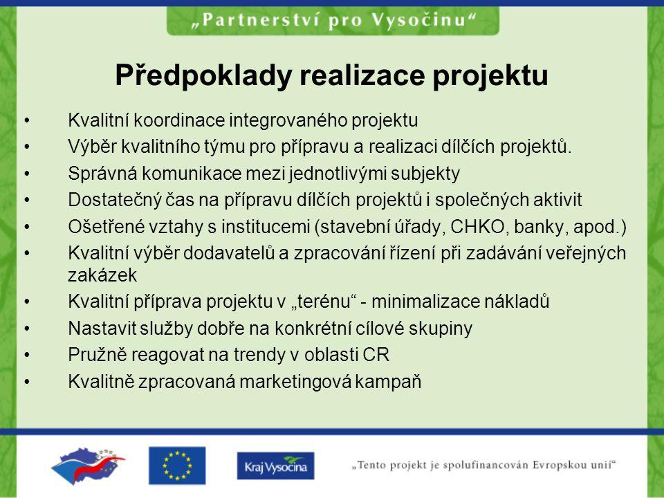 Předpoklady realizace projektu