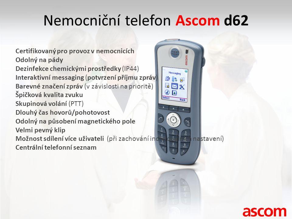 Nemocniční telefon Ascom d62