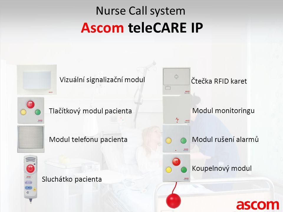 Ascom teleCARE IP Nurse Call system Vizuální signalizační modul