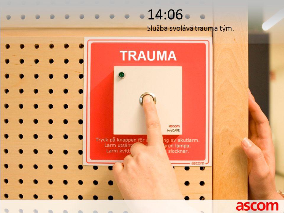 14:06 Služba svolává trauma tým.