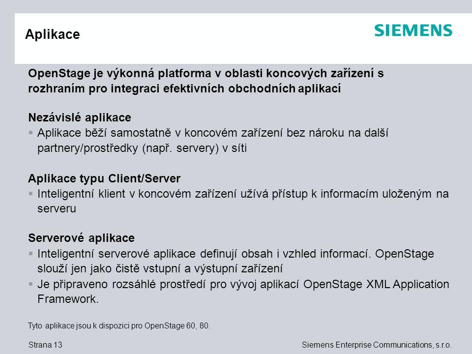 Aplikace OpenStage je výkonná platforma v oblasti koncových zařízení s rozhraním pro integraci efektivních obchodních aplikací.