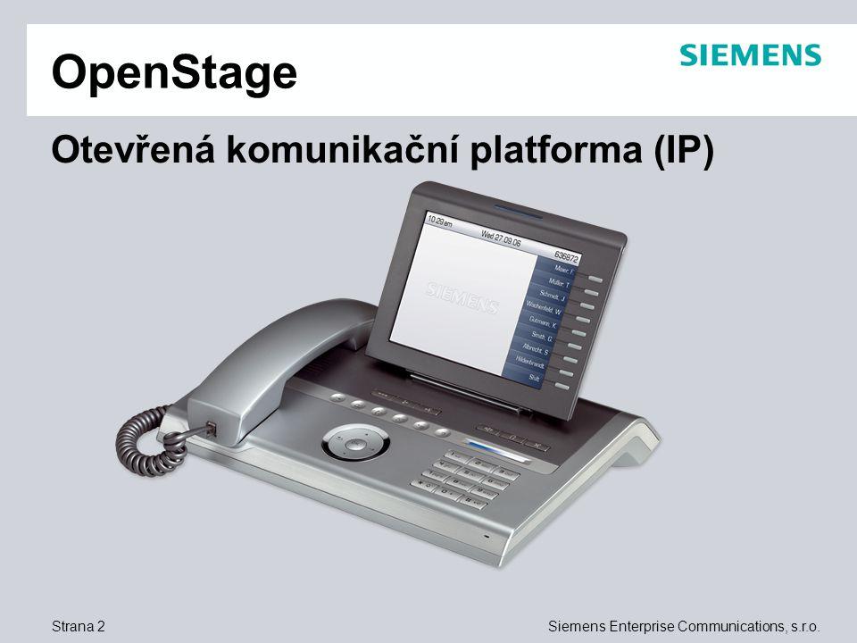 OpenStage Otevřená komunikační platforma (IP)