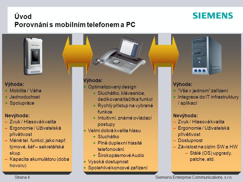 Úvod Porovnání s mobilním telefonem a PC