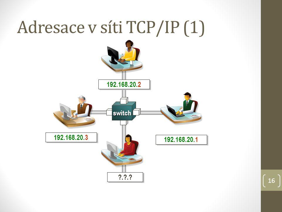 Adresace v síti TCP/IP (1)