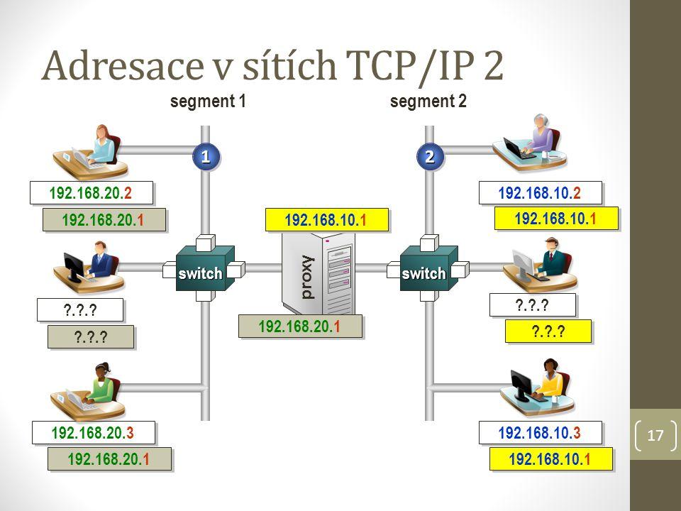 Adresace v sítích TCP/IP 2