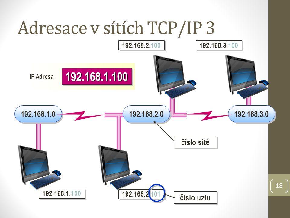 Adresace v sítích TCP/IP 3