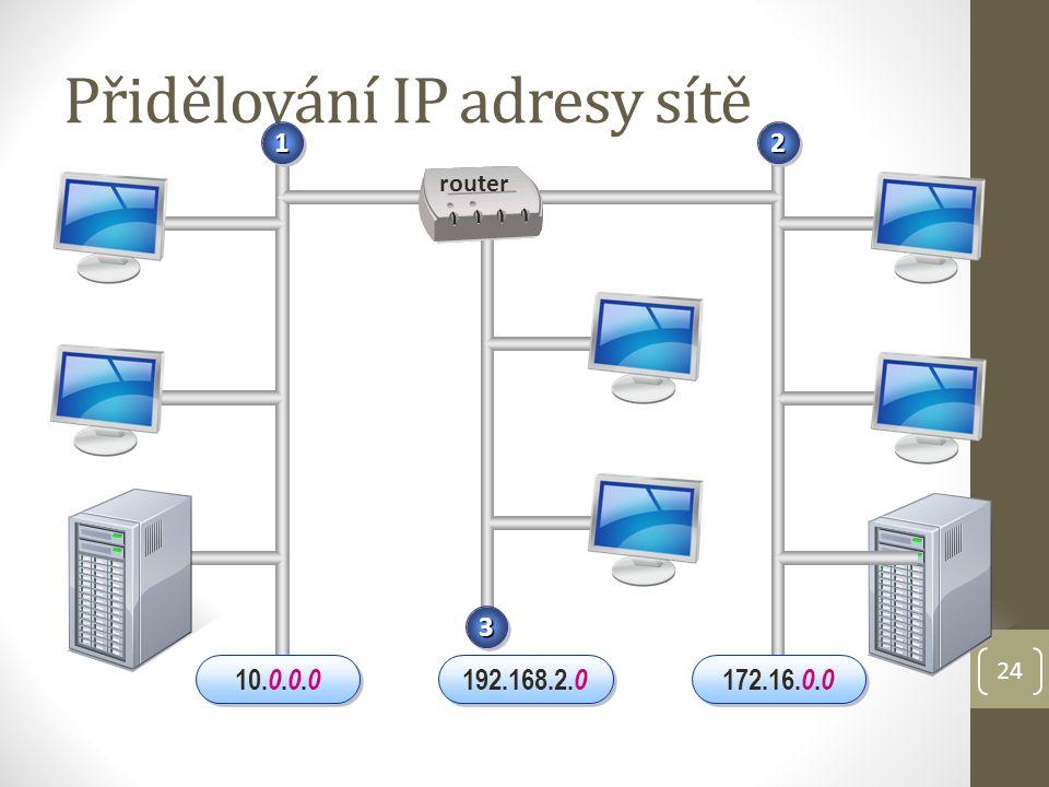 Přidělování IP adresy sítě