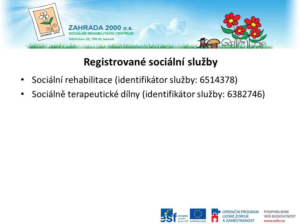 Registrované sociální služby