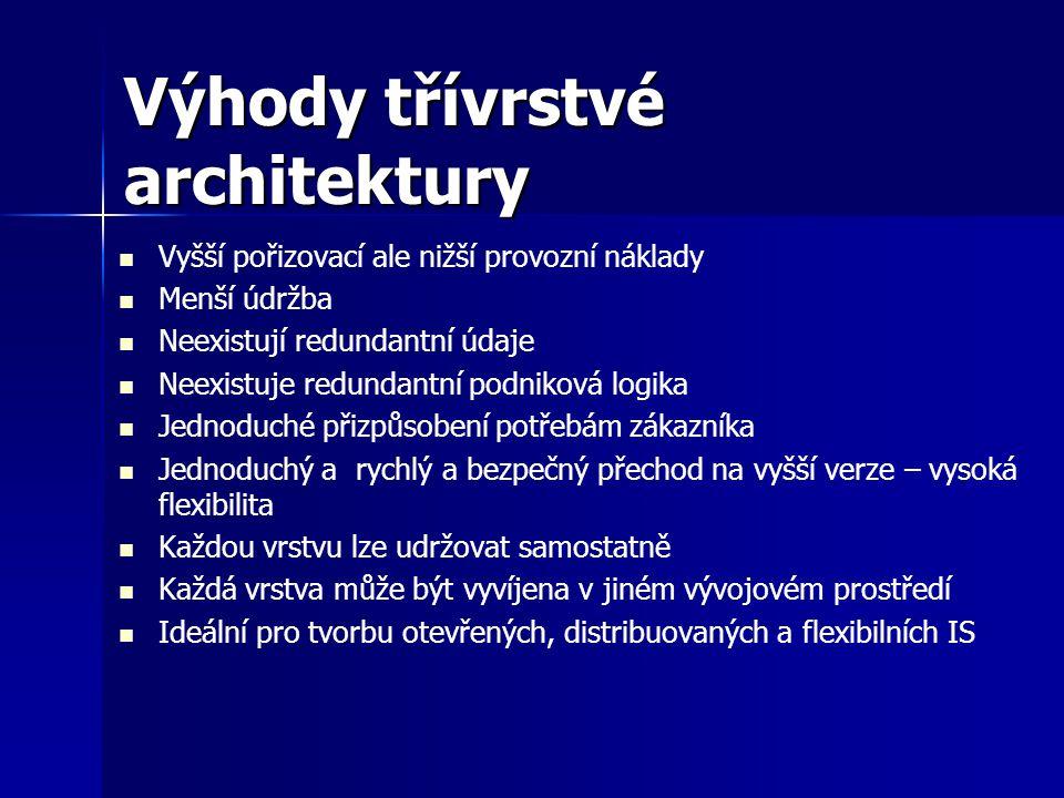 Výhody třívrstvé architektury