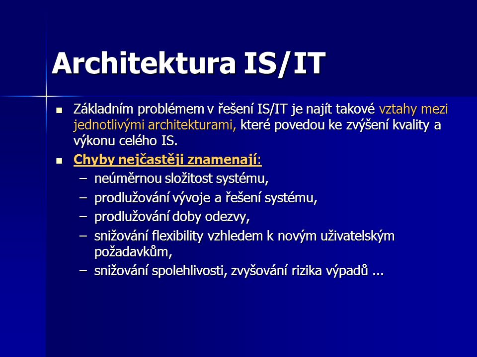 Architektura IS/IT