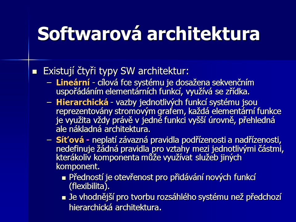 Softwarová architektura