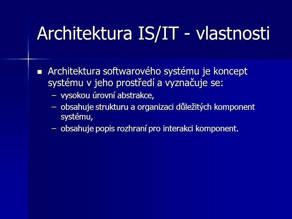 Architektura IS/IT - vlastnosti