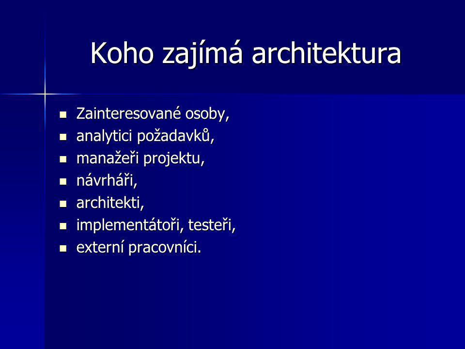 Koho zajímá architektura