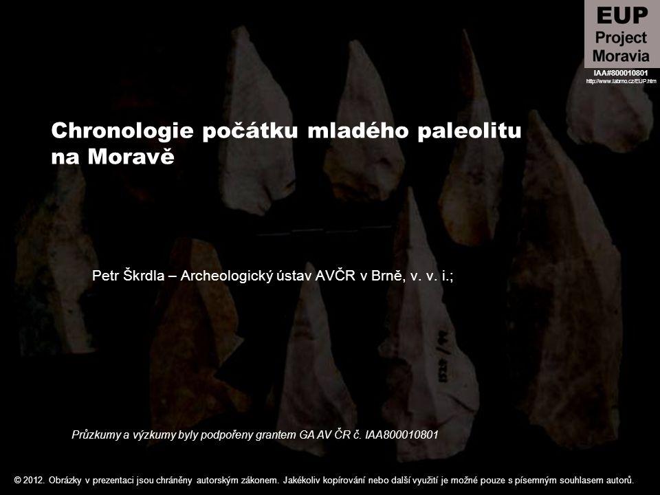 Chronologie počátku mladého paleolitu na Moravě