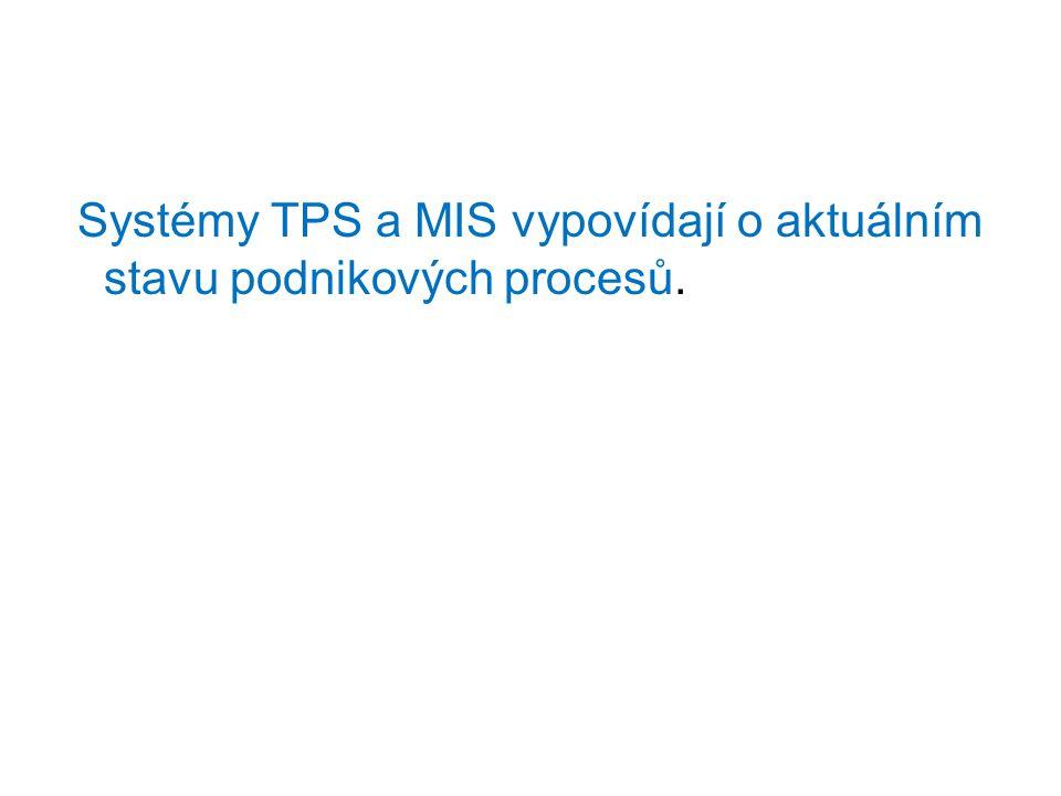 Systémy TPS a MIS vypovídají o aktuálním stavu podnikových procesů.