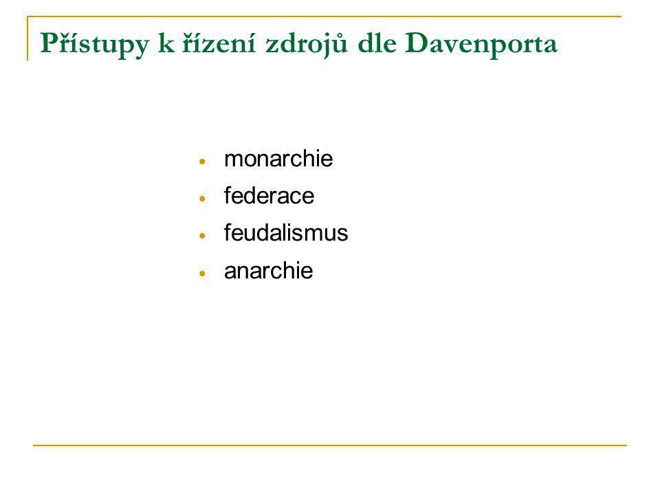 Přístupy k řízení zdrojů dle Davenporta