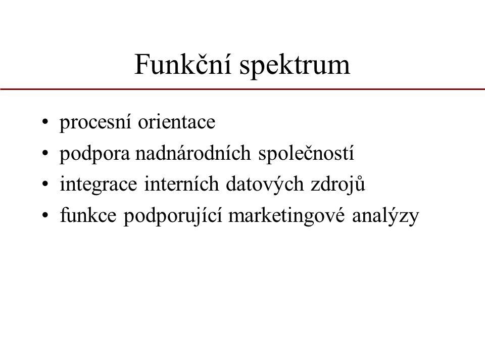 Funkční spektrum procesní orientace podpora nadnárodních společností