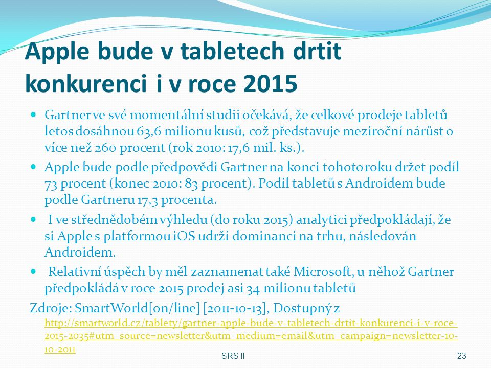 Apple bude v tabletech drtit konkurenci i v roce 2015