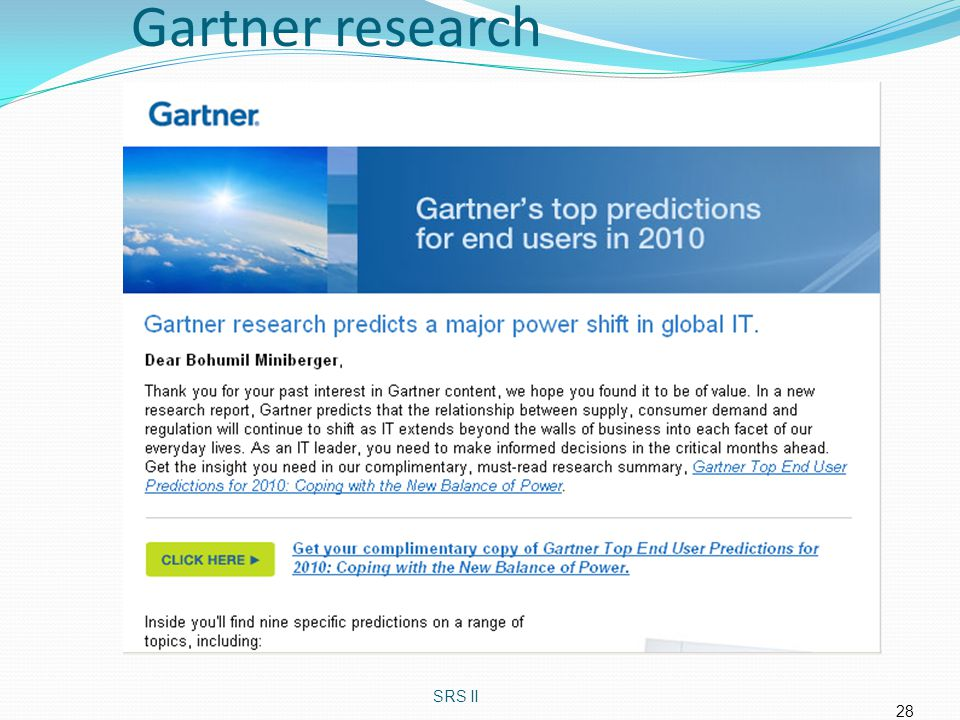 Gartner research SRS II