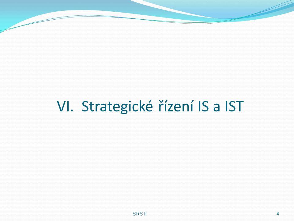 VI. Strategické řízení IS a IST