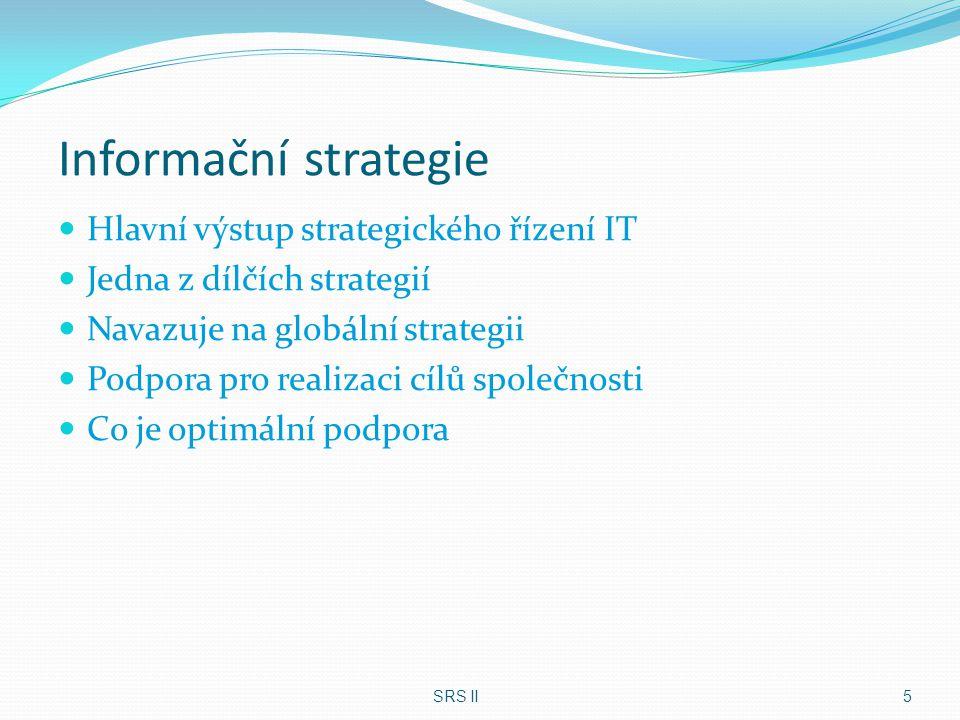 Informační strategie Hlavní výstup strategického řízení IT