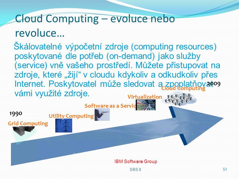 Cloud Computing – evoluce nebo revoluce…