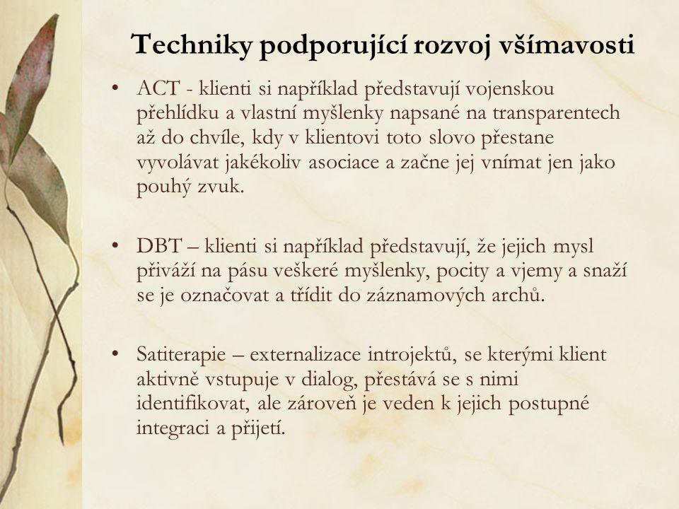 Techniky podporující rozvoj všímavosti