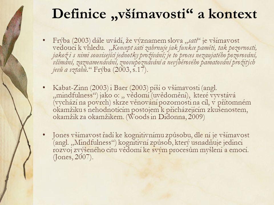 """Definice """"všímavosti a kontext"""