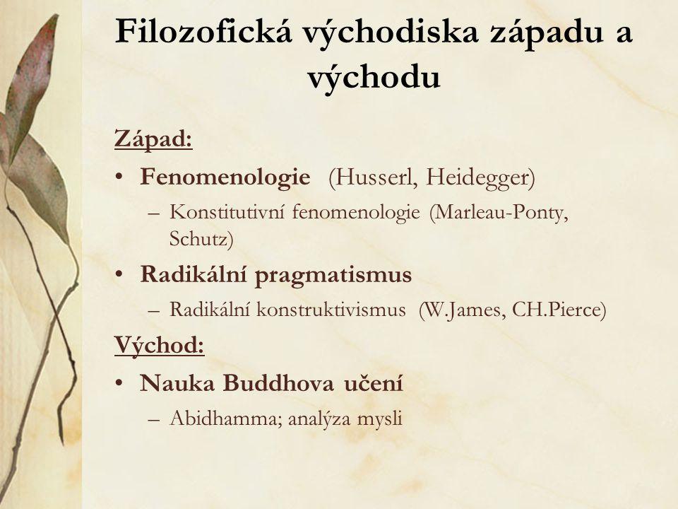 Filozofická východiska západu a východu