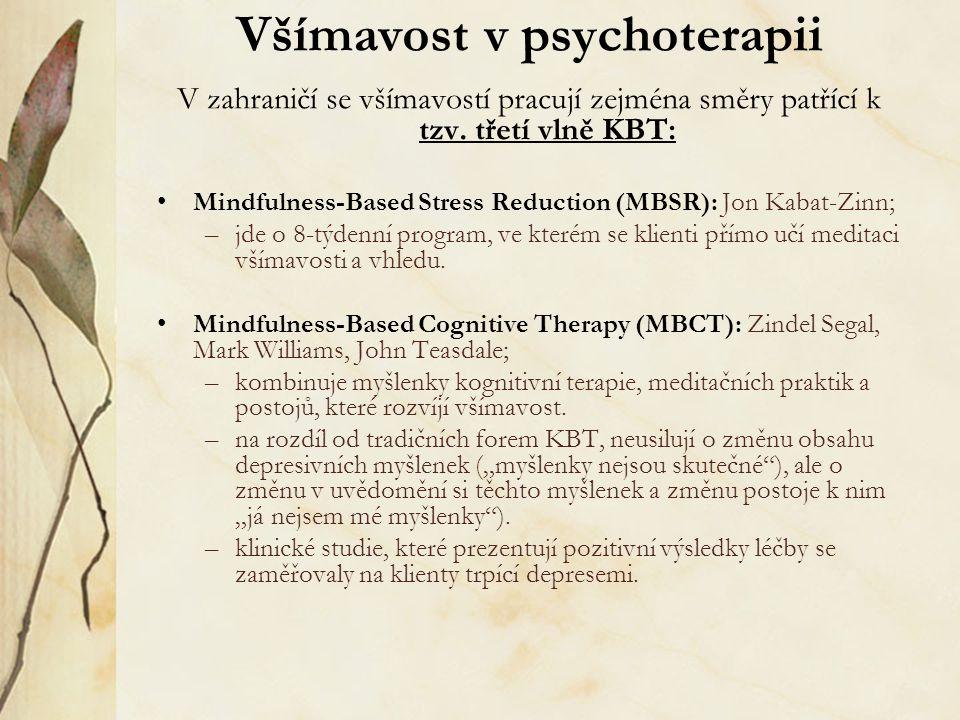 Všímavost v psychoterapii