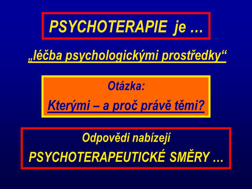 PSYCHOTERAPIE je … Kterými – a proč právě těmi