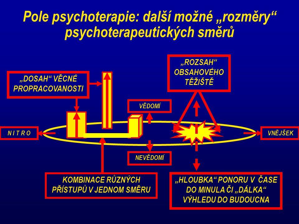"""Pole psychoterapie: další možné """"rozměry psychoterapeutických směrů"""