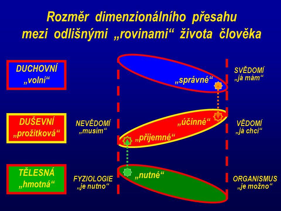 """Rozměr dimenzionálního přesahu mezi odlišnými """"rovinami života člověka"""