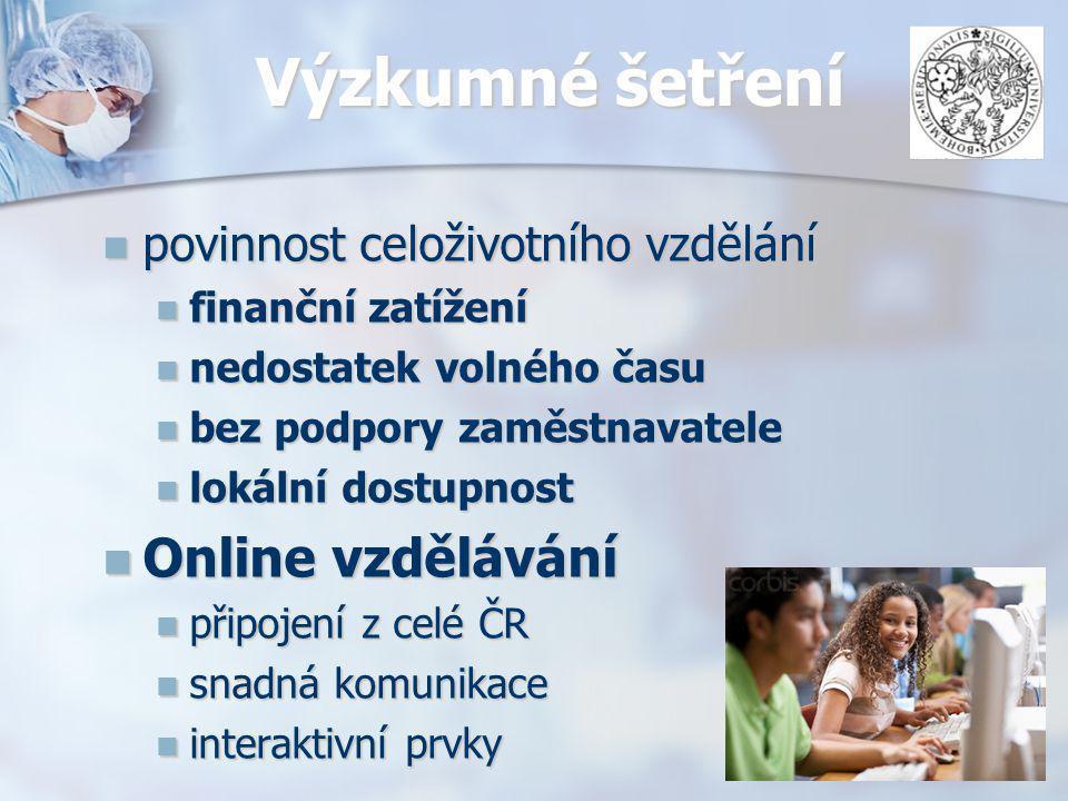 Výzkumné šetření Online vzdělávání povinnost celoživotního vzdělání