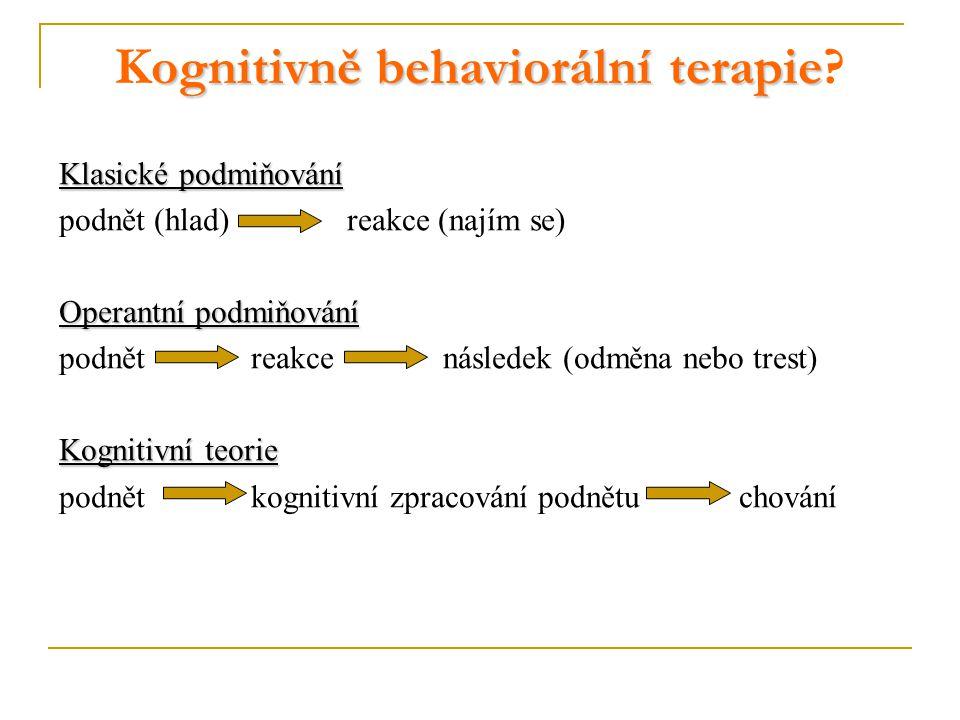 Kognitivně behaviorální terapie