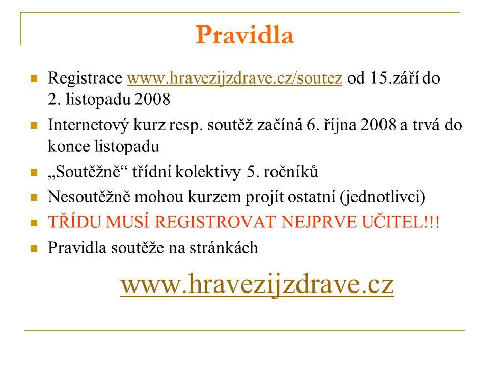 www.hravezijzdrave.cz Pravidla
