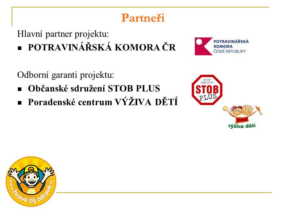 Partneři Hlavní partner projektu: POTRAVINÁŘSKÁ KOMORA ČR