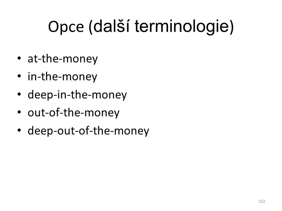 Opce (další terminologie)