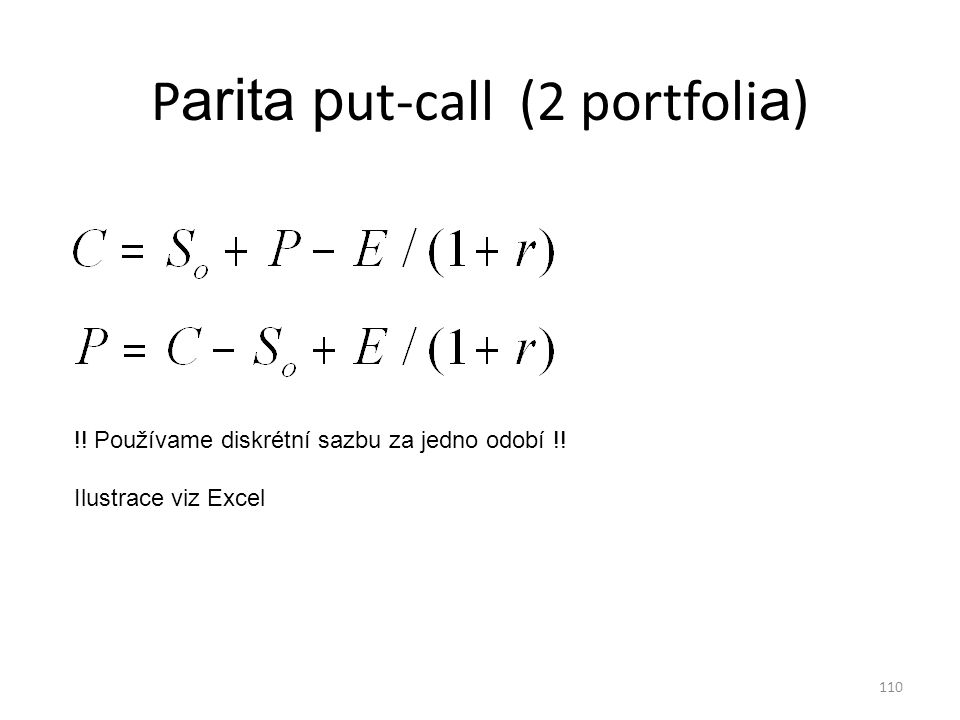 Parita put-call (2 portfolia)