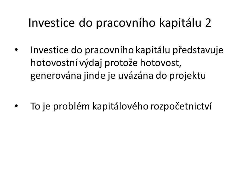 Investice do pracovního kapitálu 2