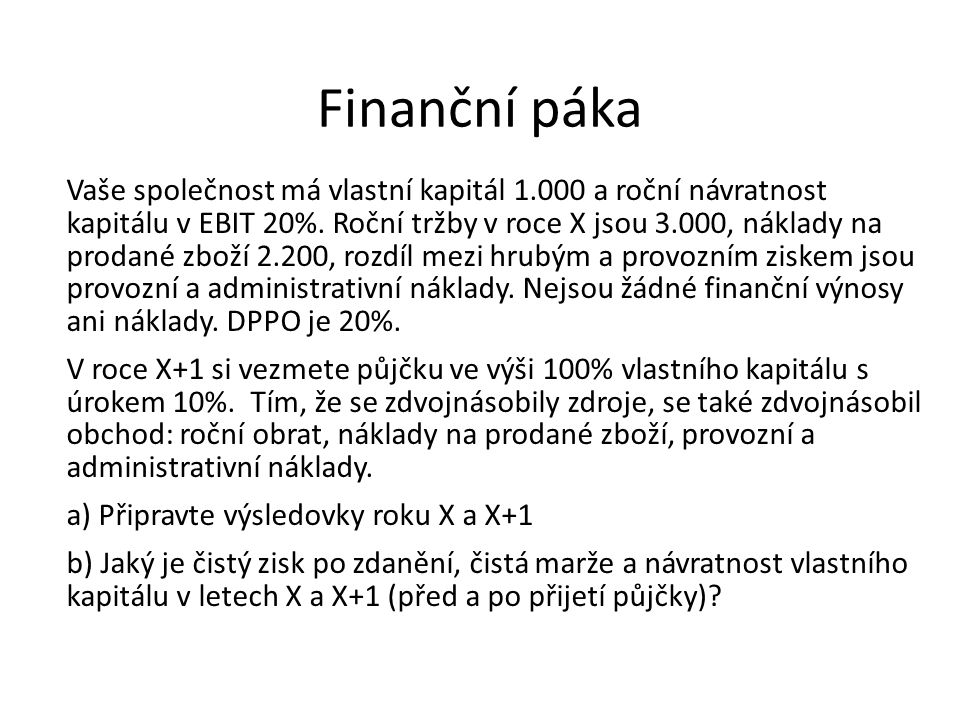 Finanční páka