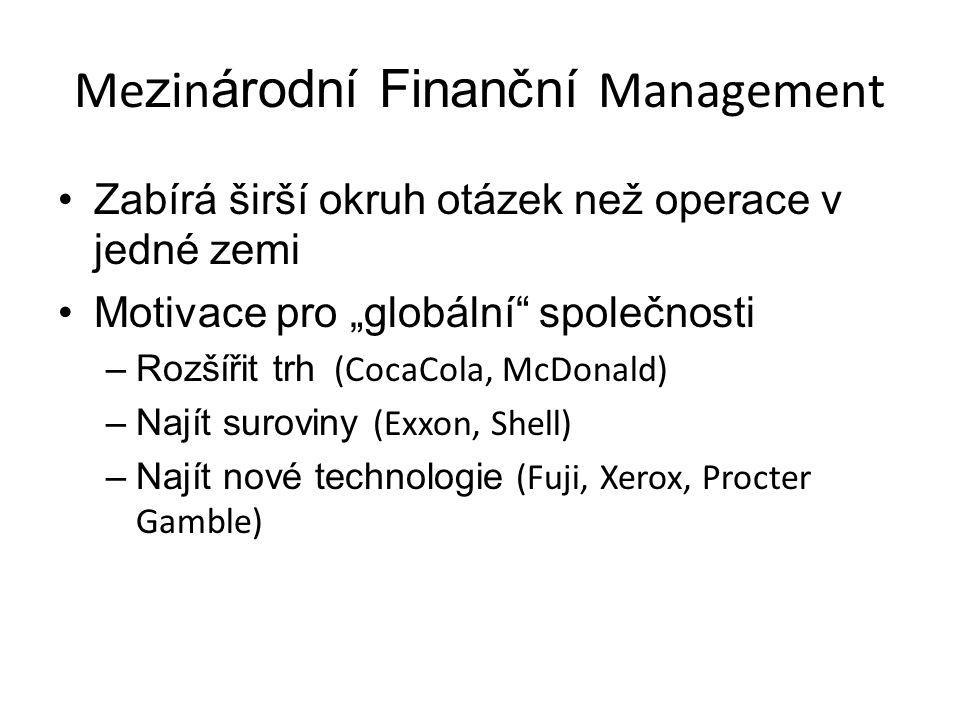 Mezinárodní Finanční Management