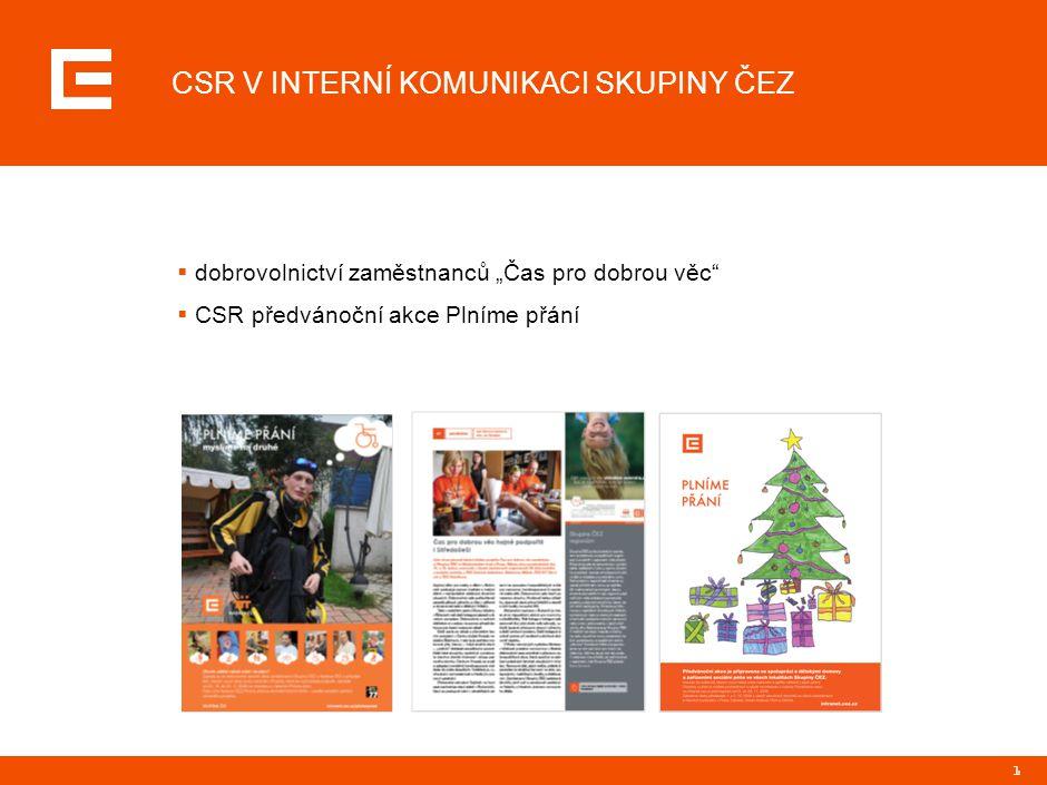 ČAS PRO DOBROU VĚC dobrovolnické dny zaměstnanců Skupiny ČEZ