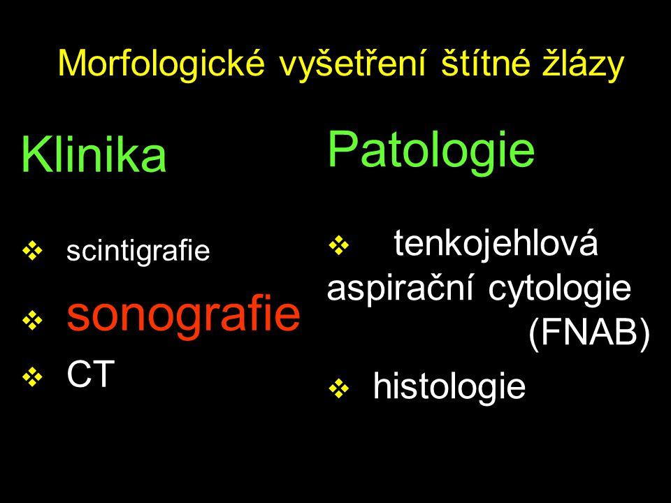 Morfologické vyšetření štítné žlázy