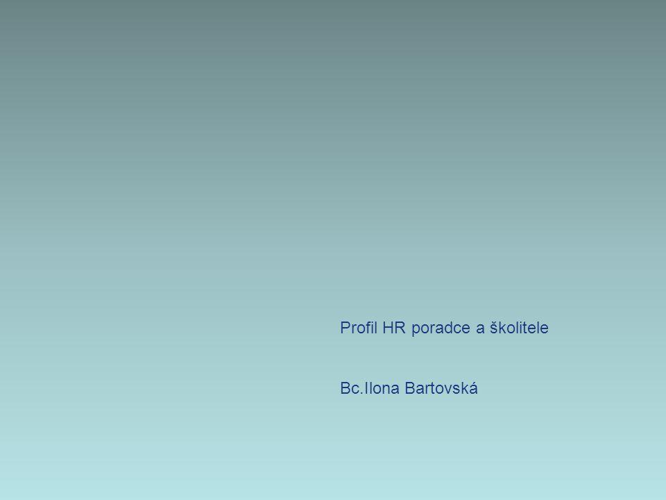 Profil HR poradce a školitele