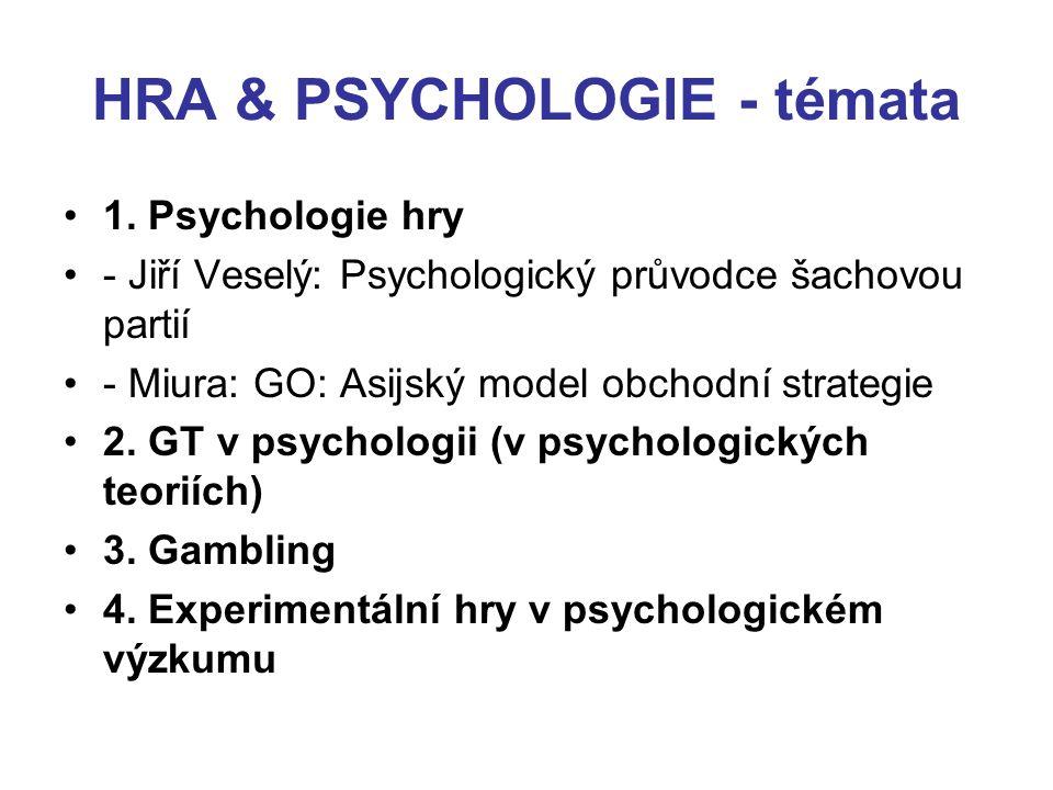 HRA & PSYCHOLOGIE - témata