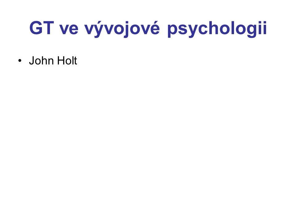 GT ve vývojové psychologii